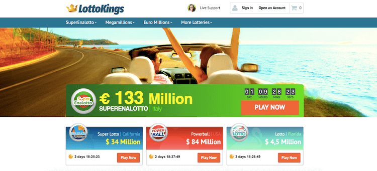 lottokings homepage