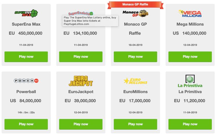 playhugelottos lotteries
